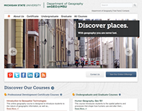 Responsive site for Michigan State's Online Geography