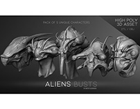 """Aliens"" busts"