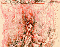Evyenia and her lotus