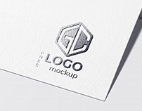 Free download foil stamping logo mockup