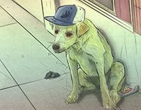 Mutt dog street / perro callejero by Venc Design