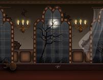 Cenário - castelo assombrado