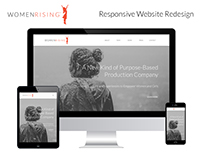 Women Rising Responsive Site Redesign