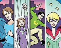 Cengage's Librarian Superhero - promo comic book