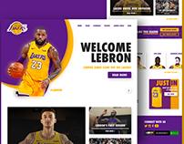 LA Lakers Home Page Design