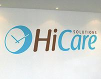Hi Care Solutions Branding and Signage Design