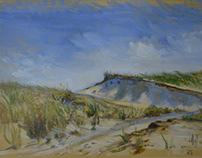 En plein air... simple sketching in oils and pastel.