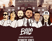 The Bailo Treatment Fall Tour 2017 Flyer
