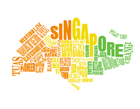 Singapore and Hong Kong Typography Map