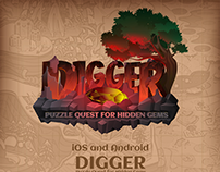 Digger Puzzle Quest for Hidden Gems