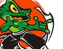 美蛙鱼头logo/ Logo design