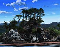 Point Lobos, Adobe Fresco oil-painting