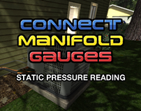Connect Manifold Gauges - Static Pressure Reading
