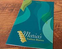 Darien Lake: Maria's Menu Design