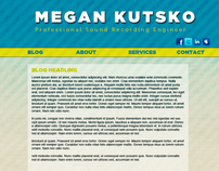 Megan Kutsko Sound Engineering Website