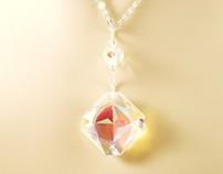 "Swarovski ""Compass Star"" Crystal Necklace Brilliant AB"