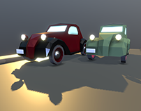 FIAT 500 Topolino - Low poly