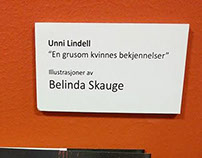 My first showing of my illustrations at Litteraturhuset