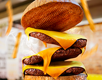 Social media - 3D Cheeseburger