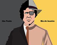 Ilustração - São Paulo vs. Rio de Janeiro