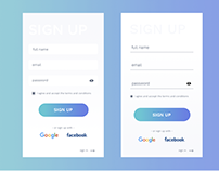 Sign up #dailyui #001