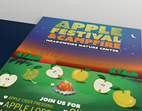 Apple Festival & Campfire Poster | Digital and Print