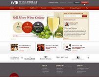 WineDirect - web design