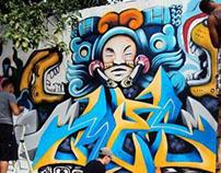 Mayan Gods Graffiti