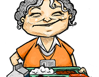 KTA Lunch Lady illustration