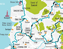 Illustrated maps for Canal & River Trust Maplets