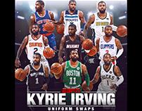 Kyrie Irving Uniform Swaps for ESPN