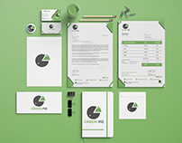 Brand Identity Design for Green-Pie Grocery Shop