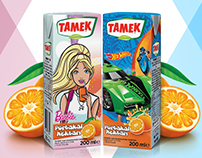 Tamek Barbie & Hot Wheels Fruit Juice Pack's