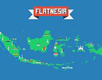 Flatnesia - Indonesian Landmarks