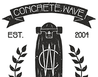 Concrete Wave Skateshop Shirt Design
