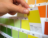 Periodic Table of Elements - paint sample board
