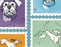 Canine Postage Stamps