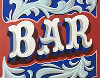 Bar sign painting