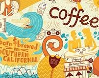 Coffee Bean & Tea Leaf Mural