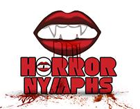 """""""Horror nymphs"""" logo for horror film"""