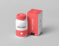 Supplement Jar & Box Mock-up 5