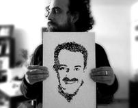 Typographic Portrait of Eduardo Nieto Ituarte
