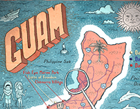 Guam Map for Hemispheres Magazine