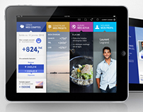 Tablet banking app /