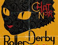 Chat Noir Roller Derby Team Logo