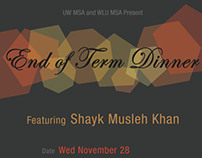 End of Term Dinner Poster