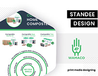 Standee design for Wamaco by BrandzGarage