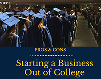 Pros and Cons of Starting a Business Out of College