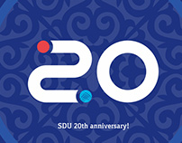 "Logo for ""SDU 20th anniversary"""