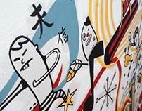 """Mural en el Centro Cultural """"El Pasaje"""""""
